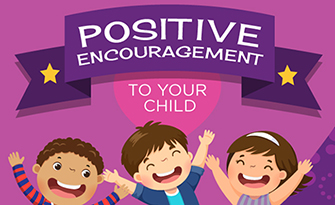 Giving positive encouragement to your child, infographic sm