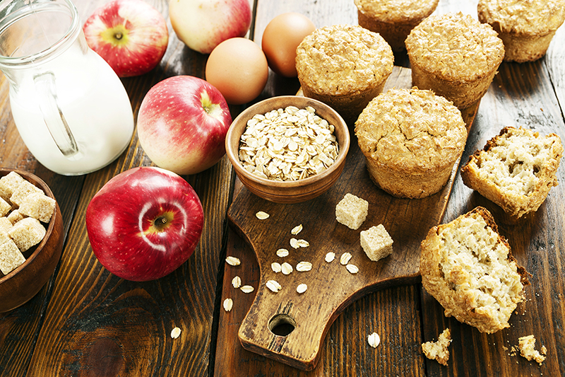 Apple cinnamon oatmeal muffin recipe