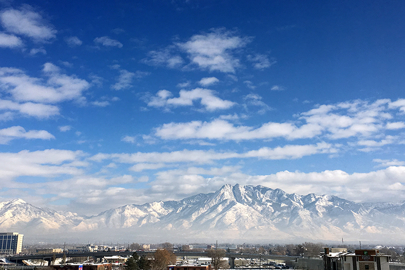 View of the Salt Lake City Skyline with poor air quality, why you should care