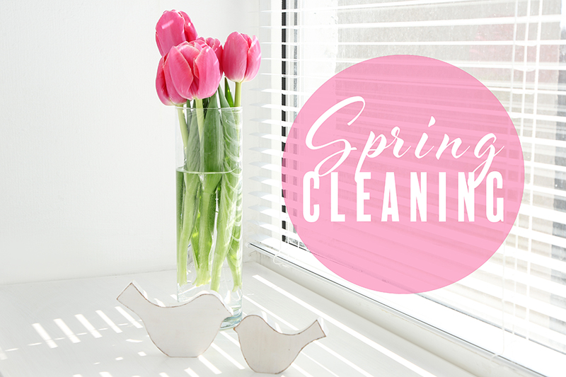 Image of a flower and Spring Cleaning Icon, why it's healthy to Spring Clean