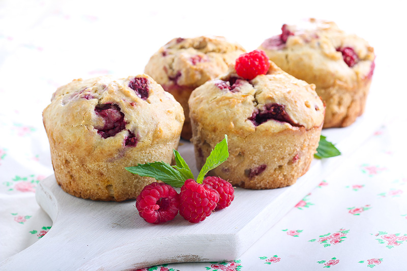 Greek Yogurt Raspberry Muffins Recipe