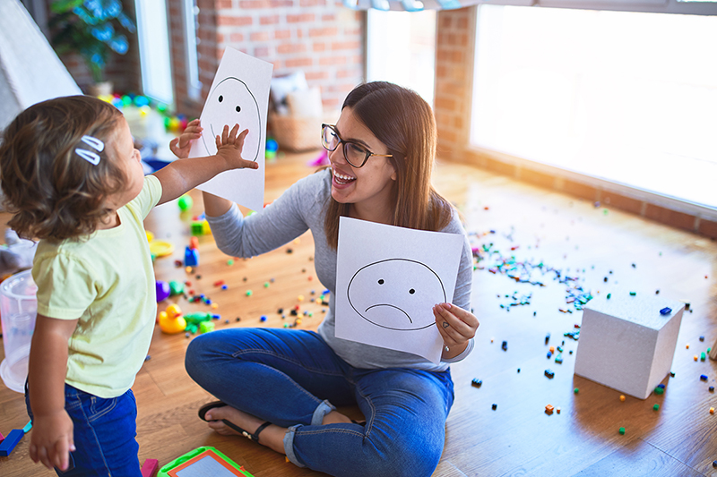 Teacher and child, how to deal with anxiety in children