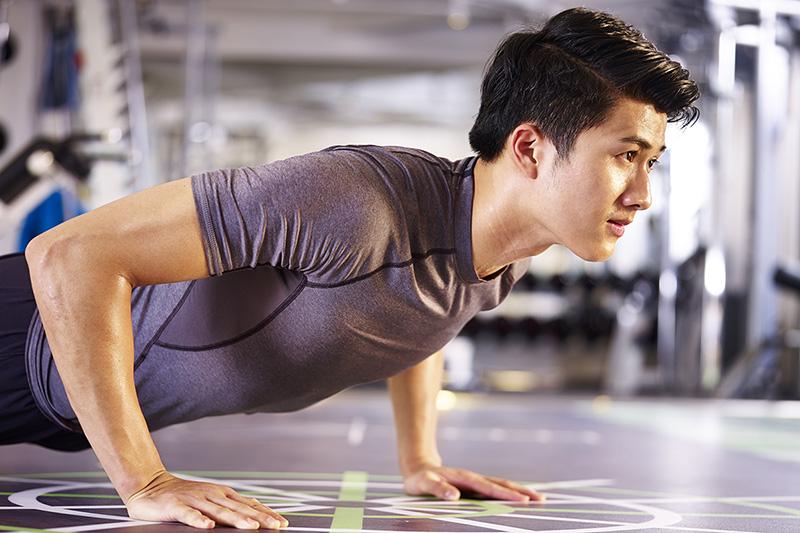 Man doing a push-up, Men's health questions
