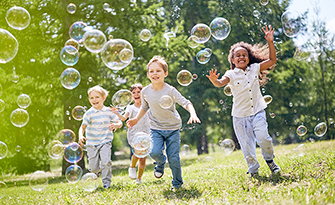 Kids running with bubbles, fun ways to keep your kids active sm