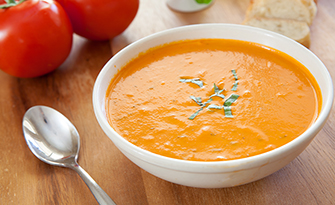 Roasted tomato soup in a bowl recipe sm
