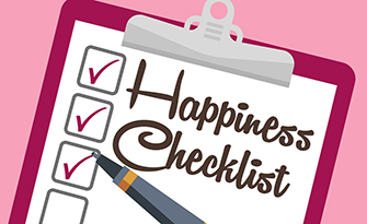 Infographic listing off a happiness checklist sm
