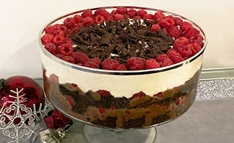 Low-fat raspberry trifle recipe, dessert recipes sm