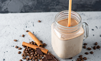 Recipe for a cafe mocha protein shake sm
