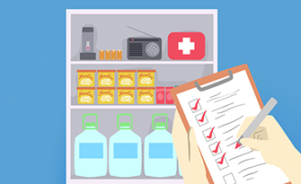 How to be prepared for an emergency, emergency checklist graphic sm