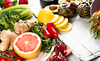 Healthy food on a counter, how to create a healthy diet sm