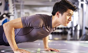 Man doing a push-up, Men's health questions sm