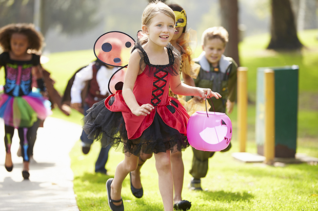 Halloween Safety-Kids in costume