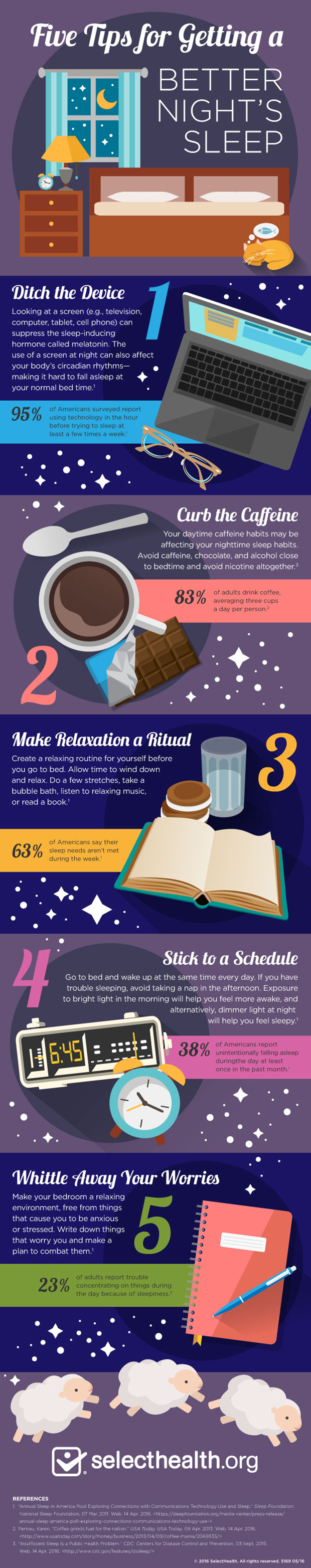Infographic, 5 tips for getting a better nights sleep