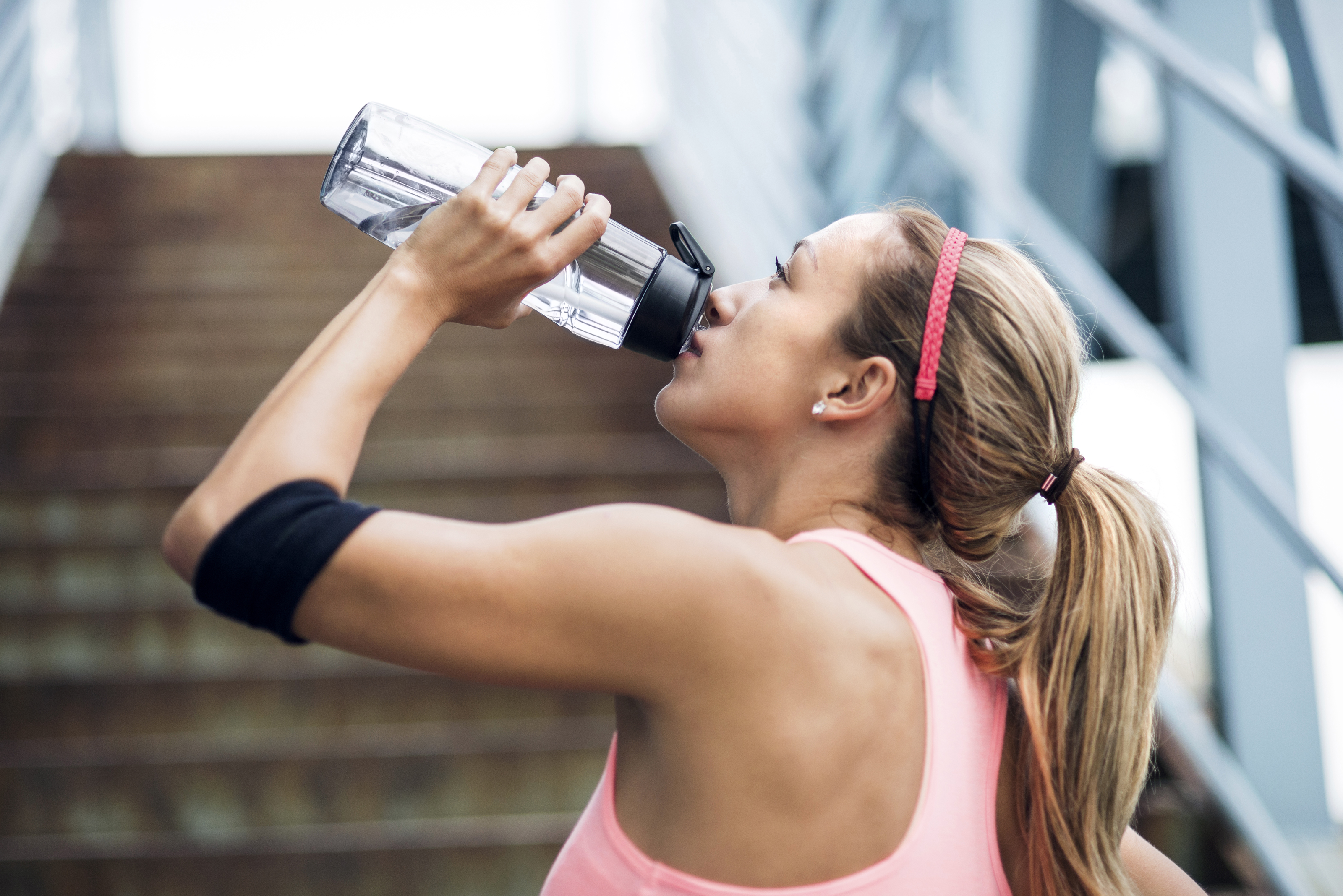 Hydrating while working out
