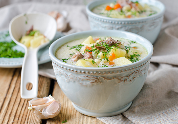 Creamy Chicken and Veggie Soup blog lg