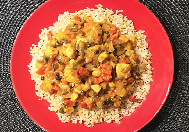 Chef Mary shares her Chicken Curry healthy recipe, chicken curry
