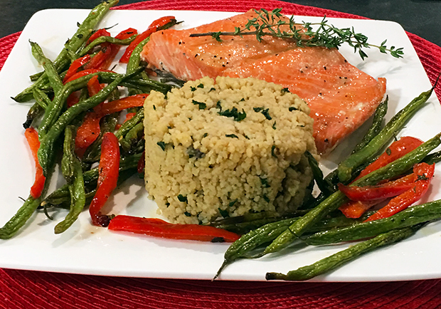 Roasted salmon and maple glaze, a Chef Mary healthy recipe