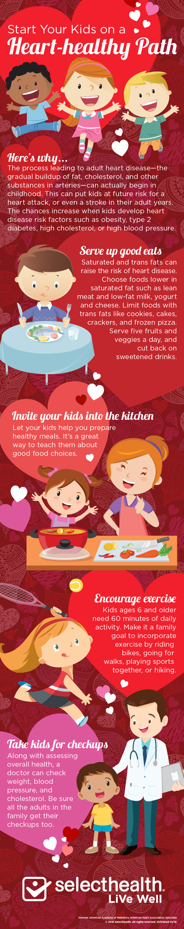 Keep kids heart healthy, and avoid heart disease. Heart Health Infographic