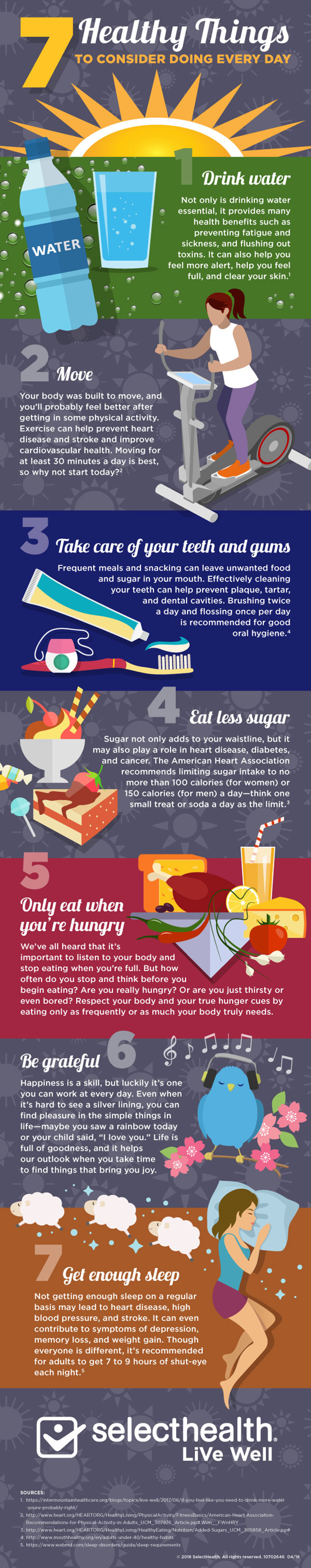 7 healthy things you can do every day to stay healthy, infographic