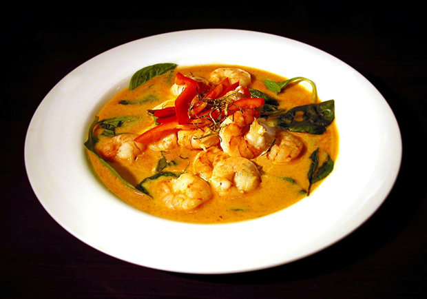 Healthier recipe for chicken curry and shrimp