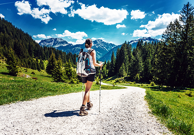 Woman Hiking, stay healthy all year long