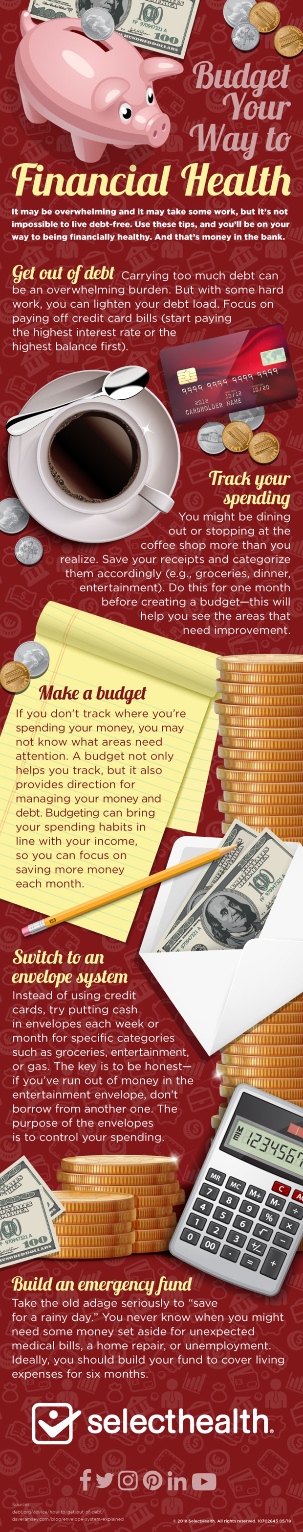 Financial Infographic, money and budgeting