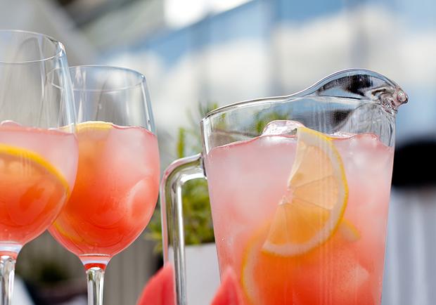Watermelon_lemonade recipes, spritzer water