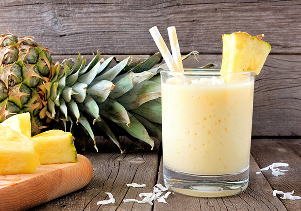 Pineapple Coconut Mock Mojito Smoothie