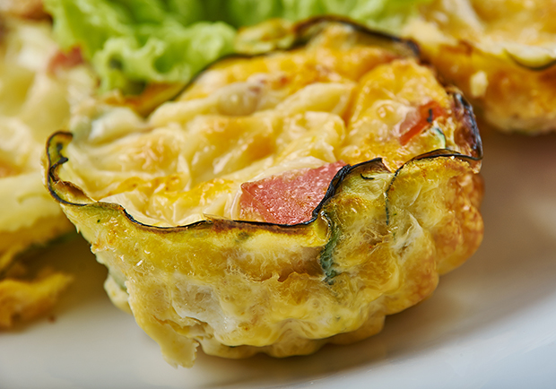 Crustless Mini quiche, recipe