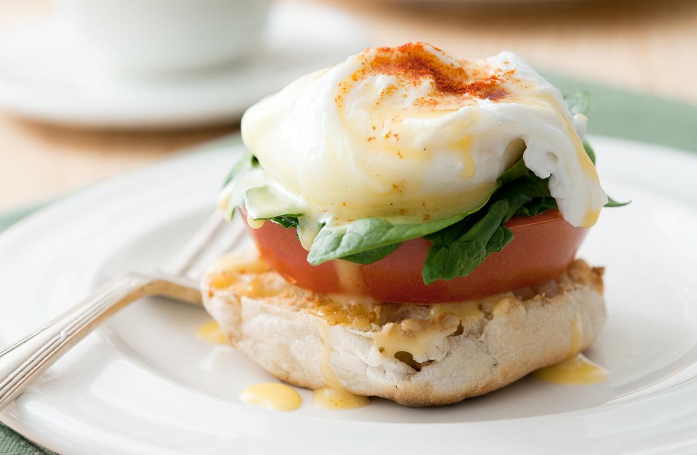 Eggs Florentine Healthy recipe, large