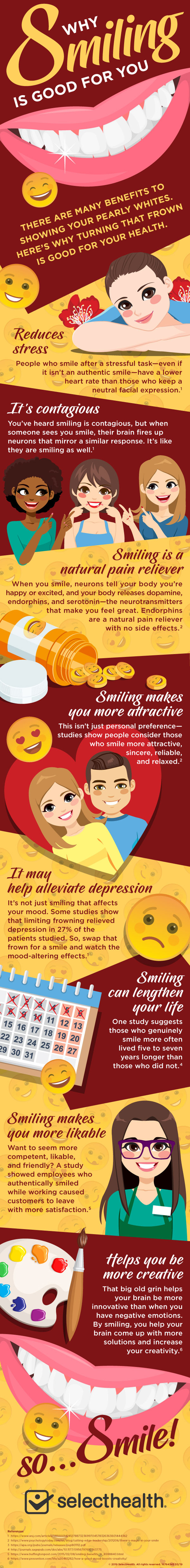 Why Smiling is Good For You Infographic