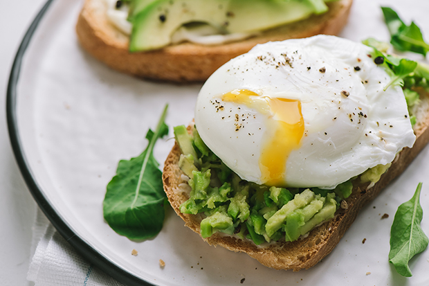 Recipe for avocado toast and poached egg lg