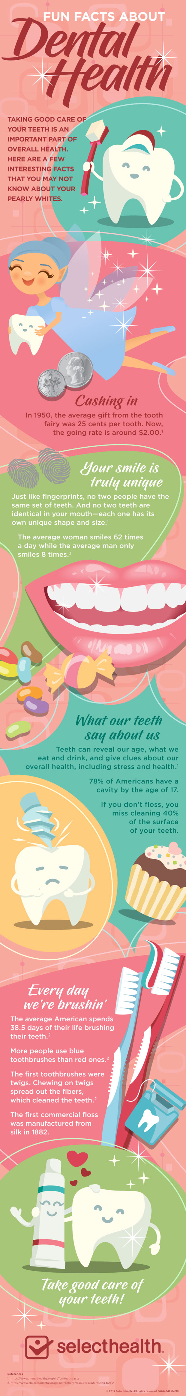 Fun facts about your teeth infographic lg