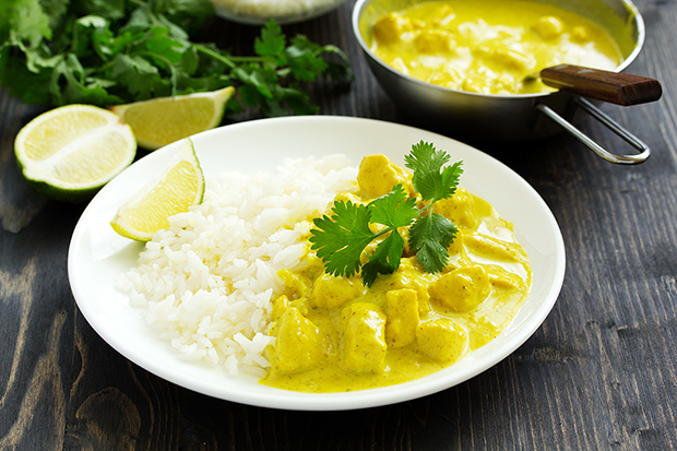Lighter version of chicken curry, lg