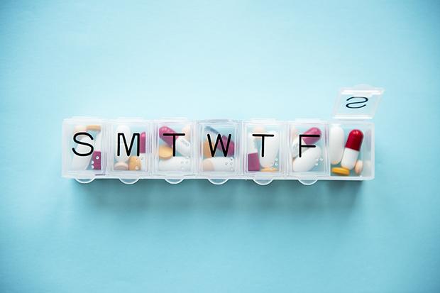 Medication adherence, pill box