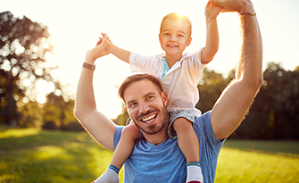 Father and son, men's health