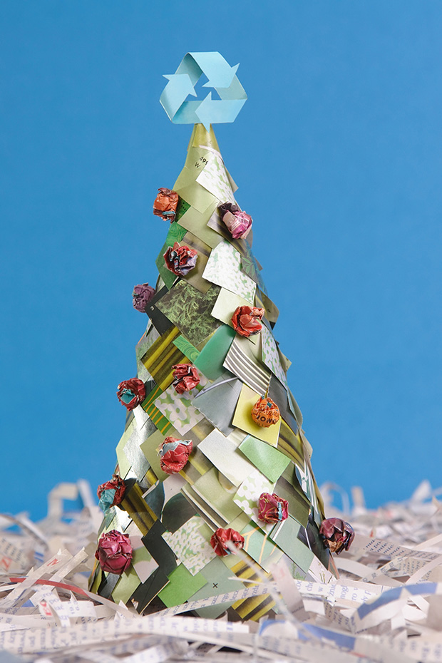 Christmas Tree Recycle Design.7 Effective Ways To Recycle During The Holidays