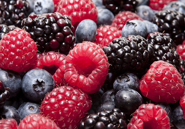 Use color to eat healthier. Dark berries have better health benefits