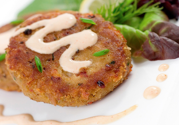 Crab cakes, lighter version recipe from Chef Mary