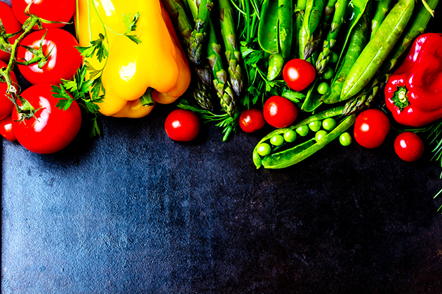 Use a variety of color in your cooking for healthier meals. Peppers, tomatoes, peas, etc.