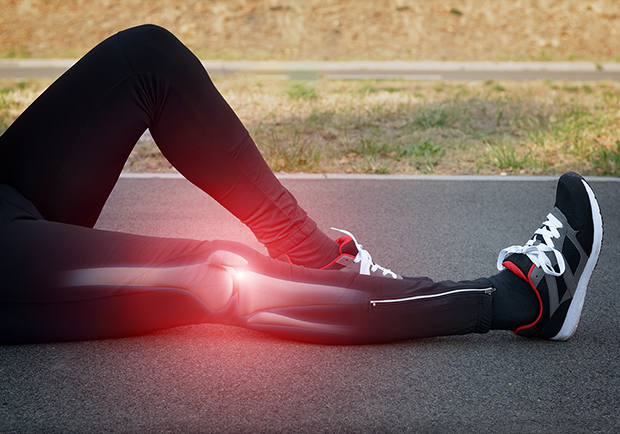 6 ways to keep your bones strong, image of person stretching their knee