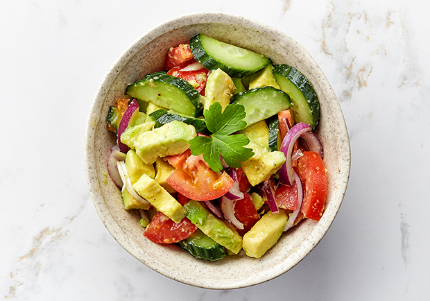 Avocado tomato salad, healthy recipes