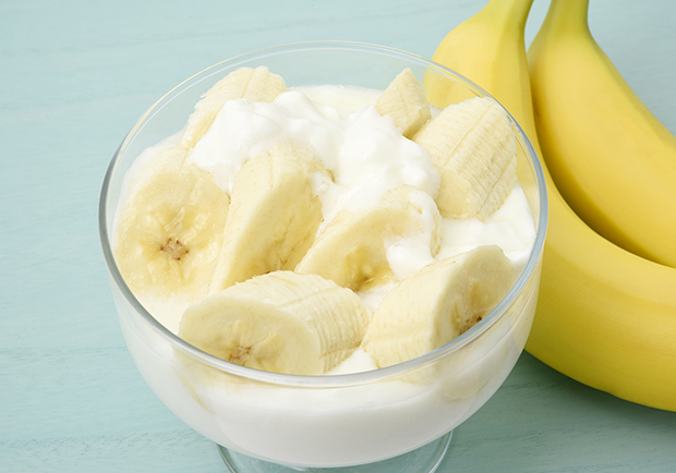 Gut health, bananas and yogurt