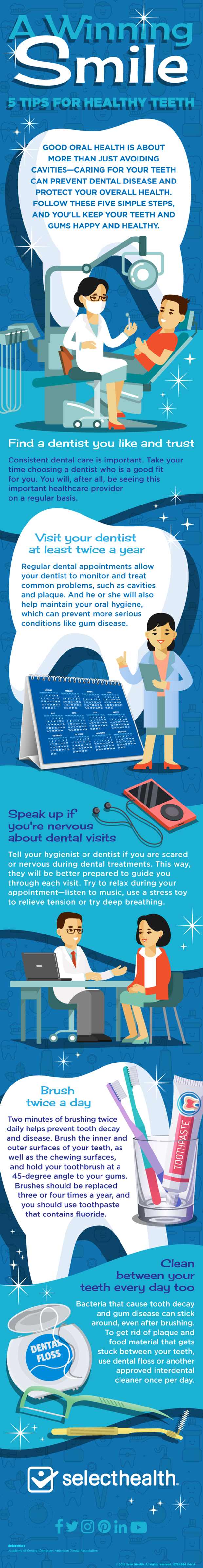 infographic, tips for healthy teeth