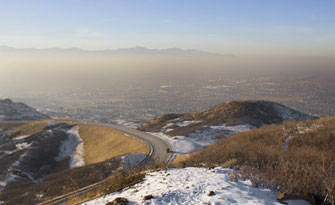Smog blanketing the Salt Lake Valley